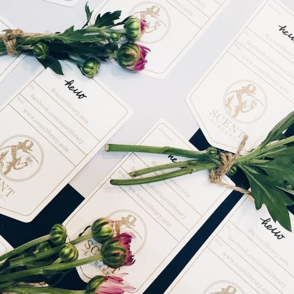 Natural skincare aromatherapy essential oils namecards